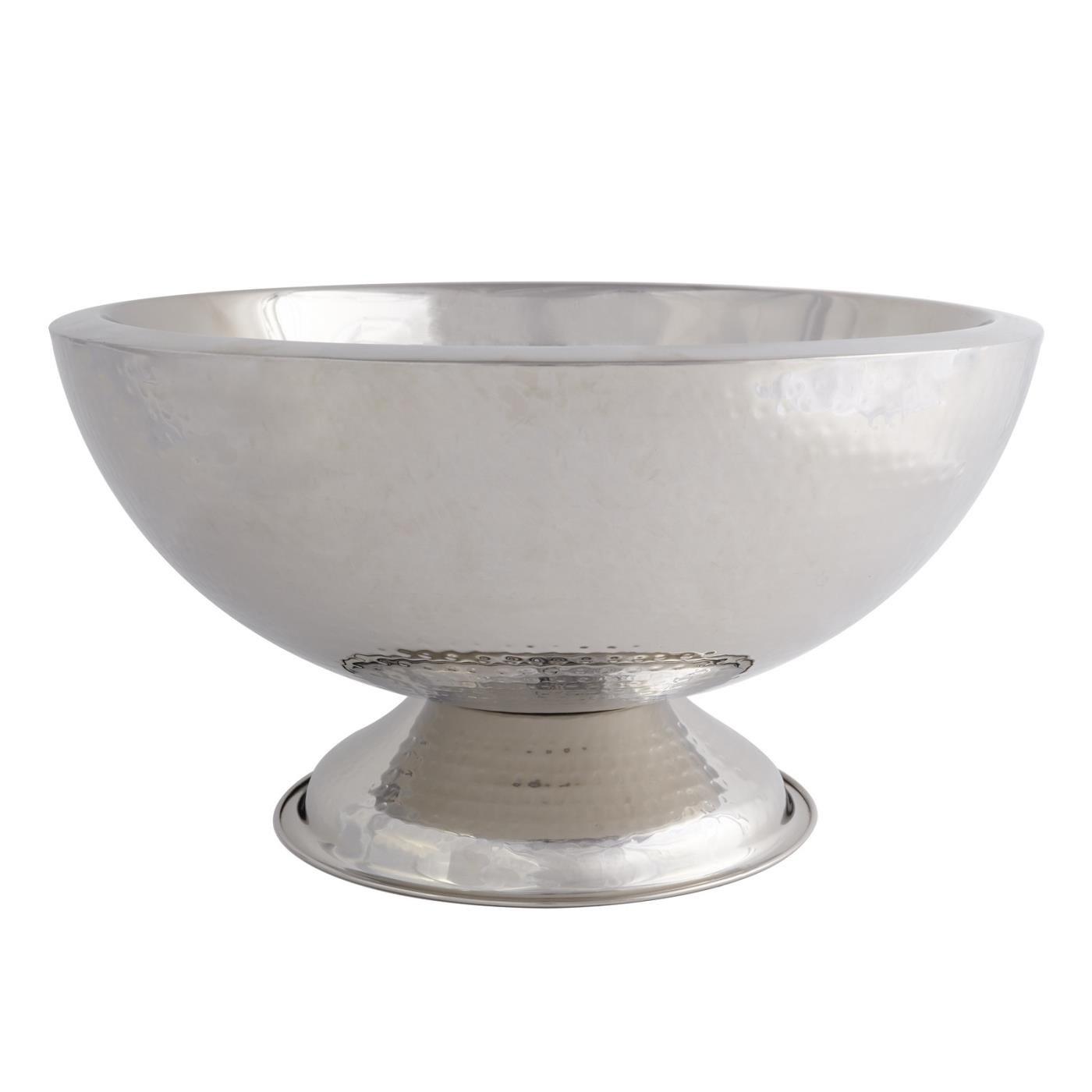 Hammered Punch Bowl