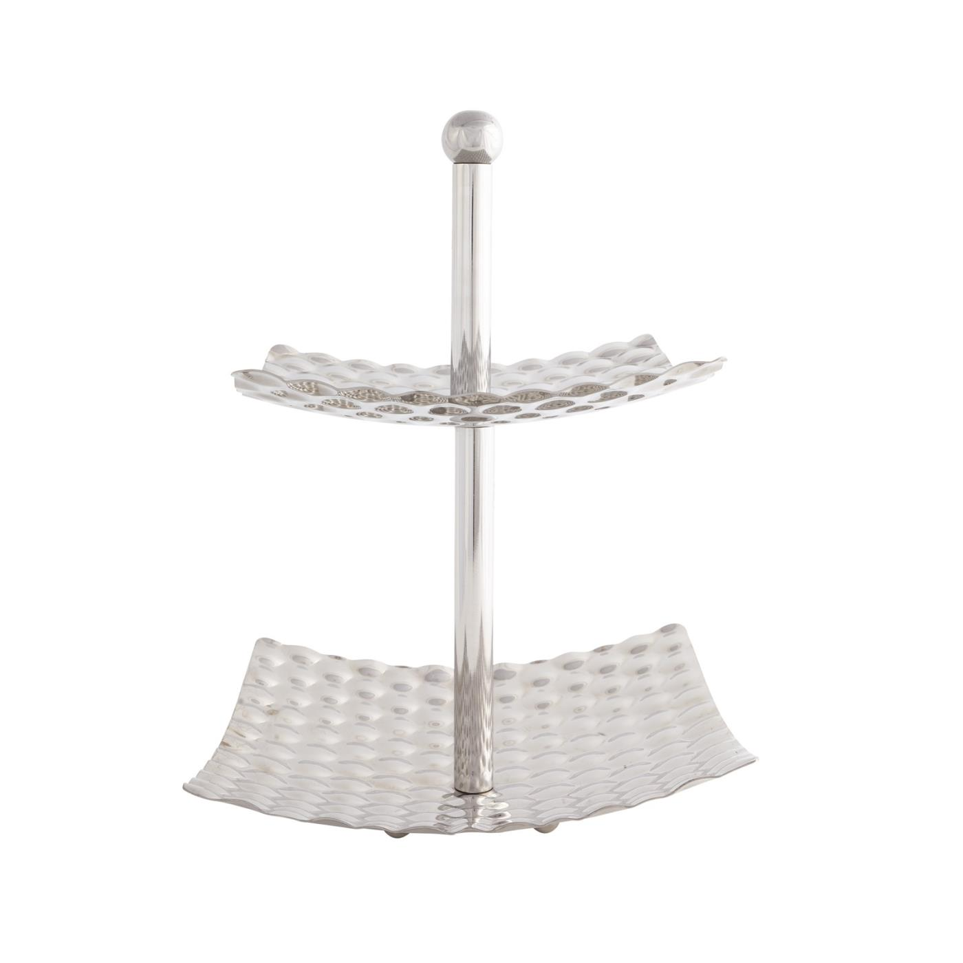 Stainless Steel Simmer Square 2-Tier Stand