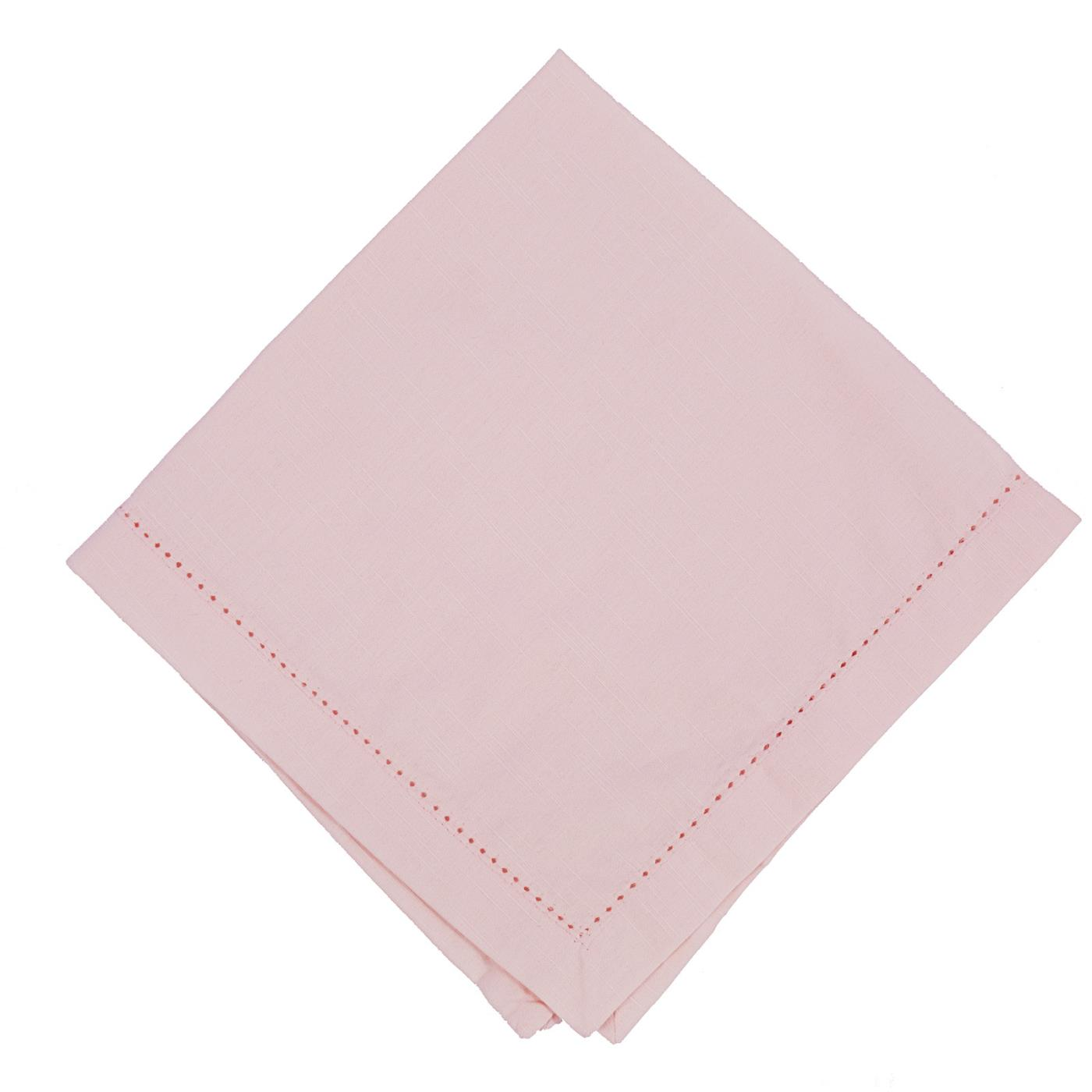 Pale Pink - Linen - Hemstitched