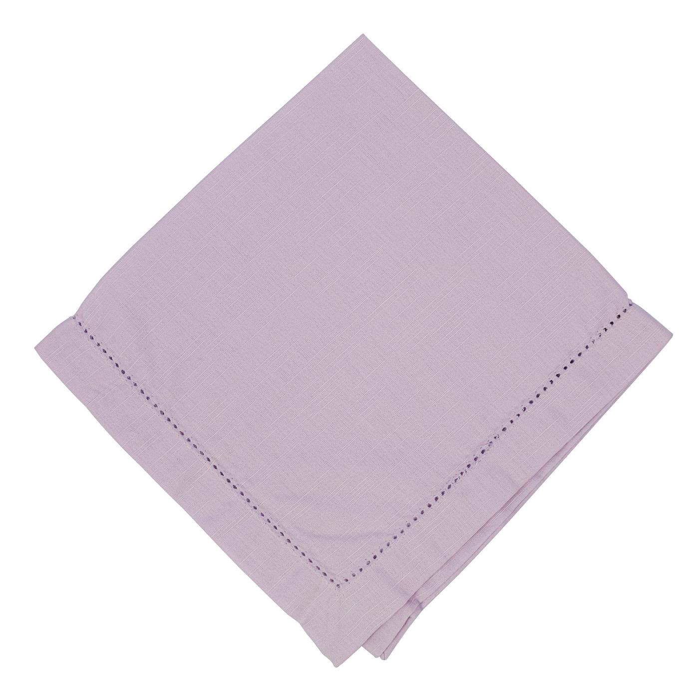 Lavender - Linen - Hemstitched