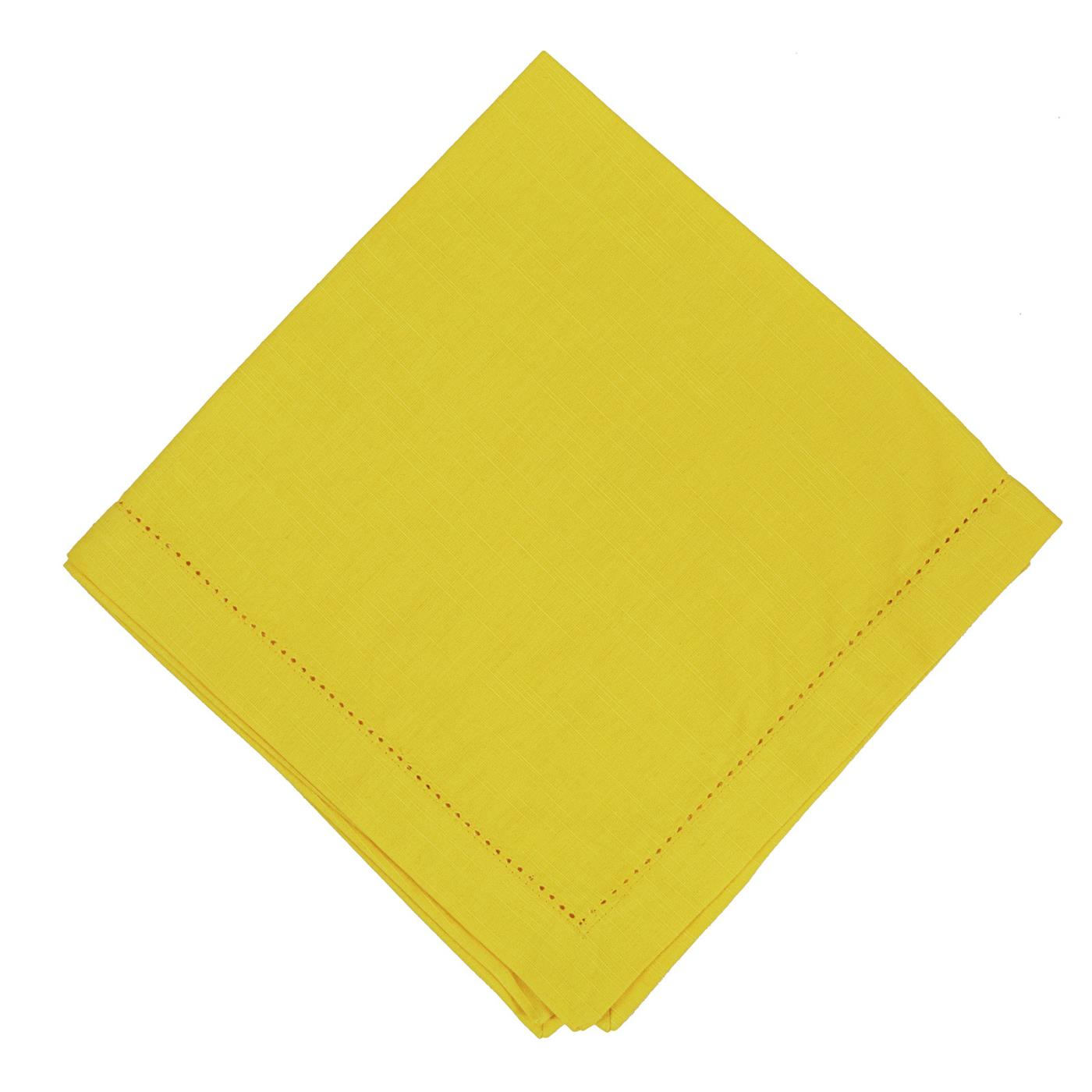 Yellow - Linen - Hemstitched