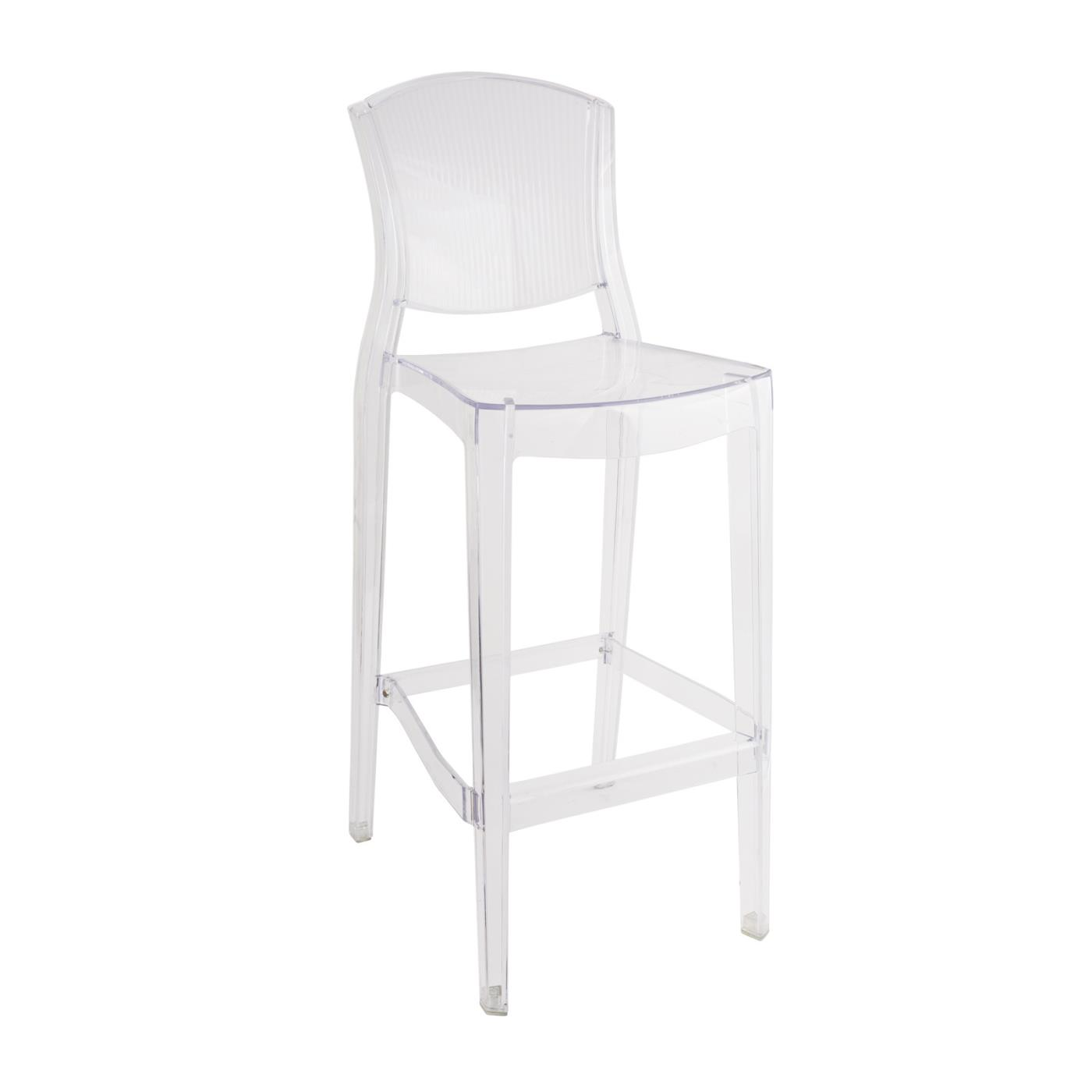Clear Lotus Barstool