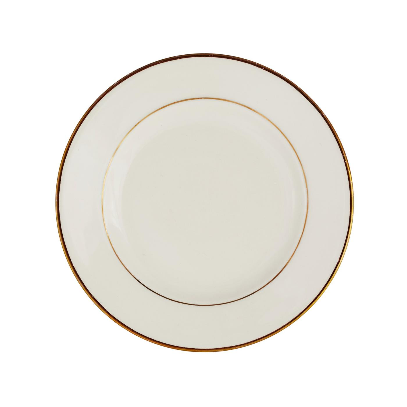 Ecru with Gold Rim Collection -  B&B Plate 5.75""