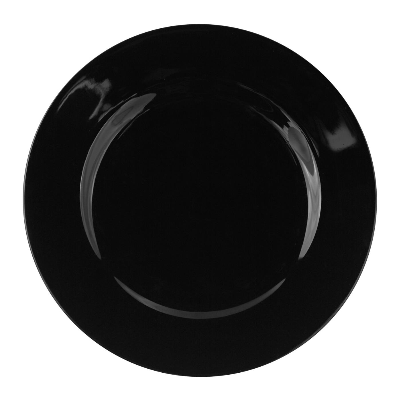 Black Rim Collection -  Salad/Dessert Plate 7.75""