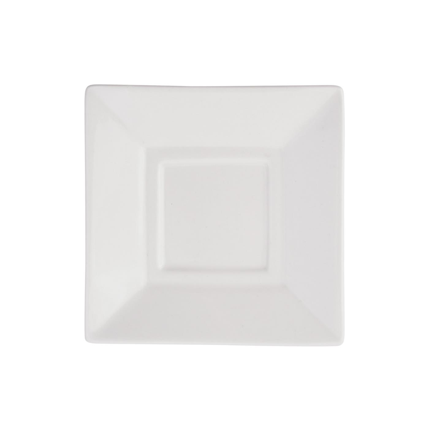 White Square Collection -  Saucer 5""