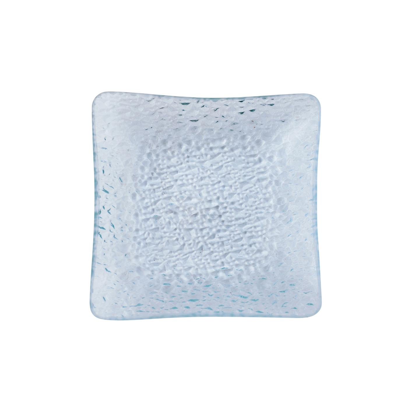 Bubble Square Glass Plate 5