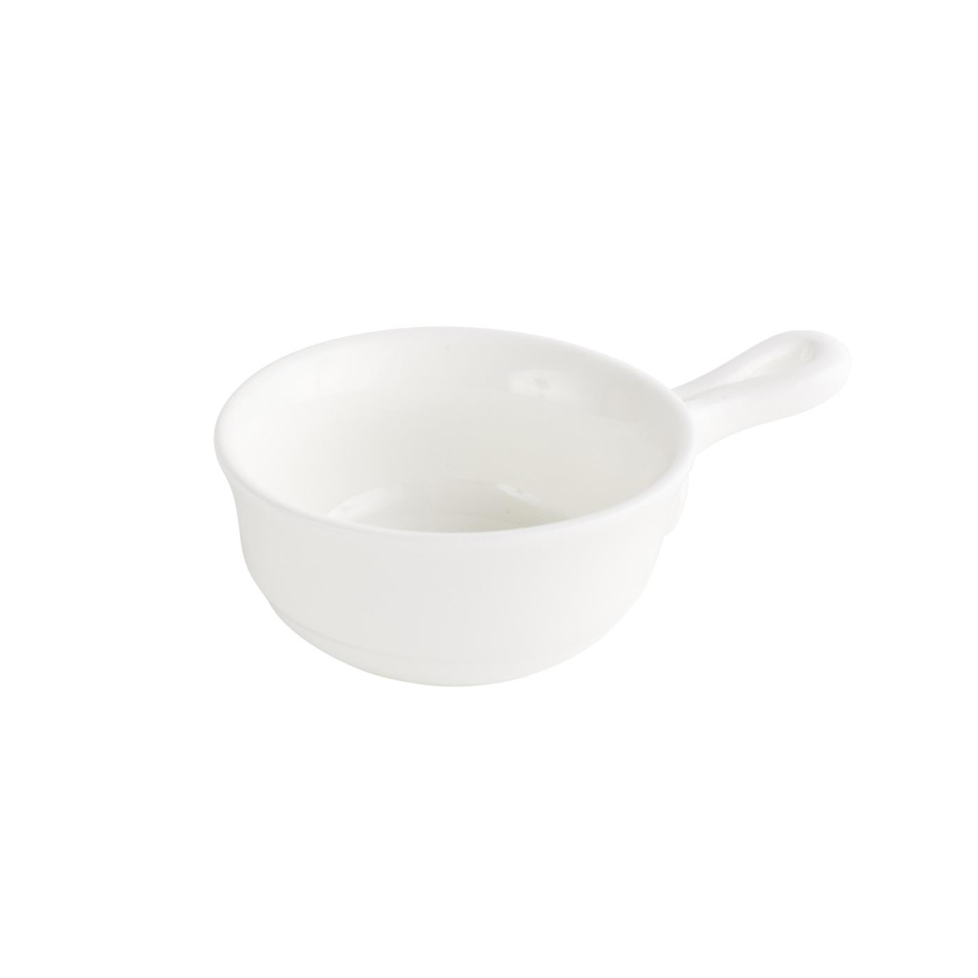 White Mini Sauce Pot With Handle 3