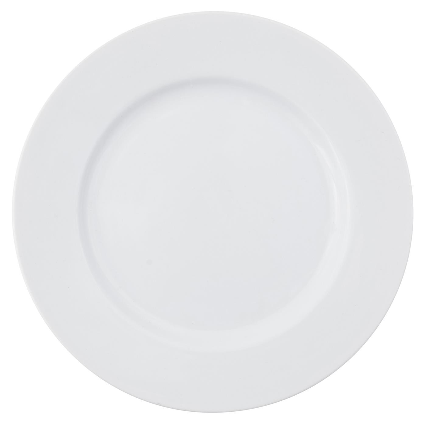 White Rim Chop Plate