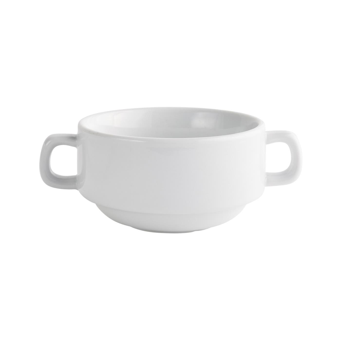 White Rim Collection -  Cream Soup Bowl 4""