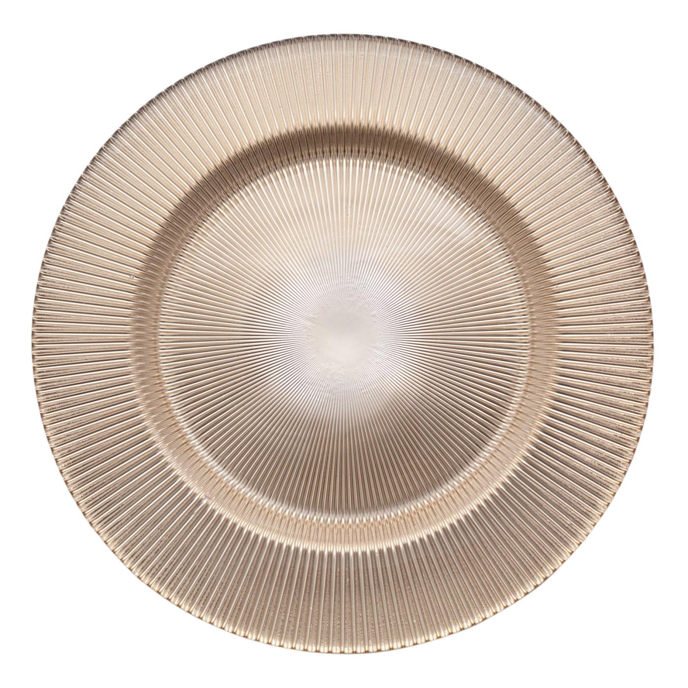 """Gold Fan Glass Charger - 11"""""""