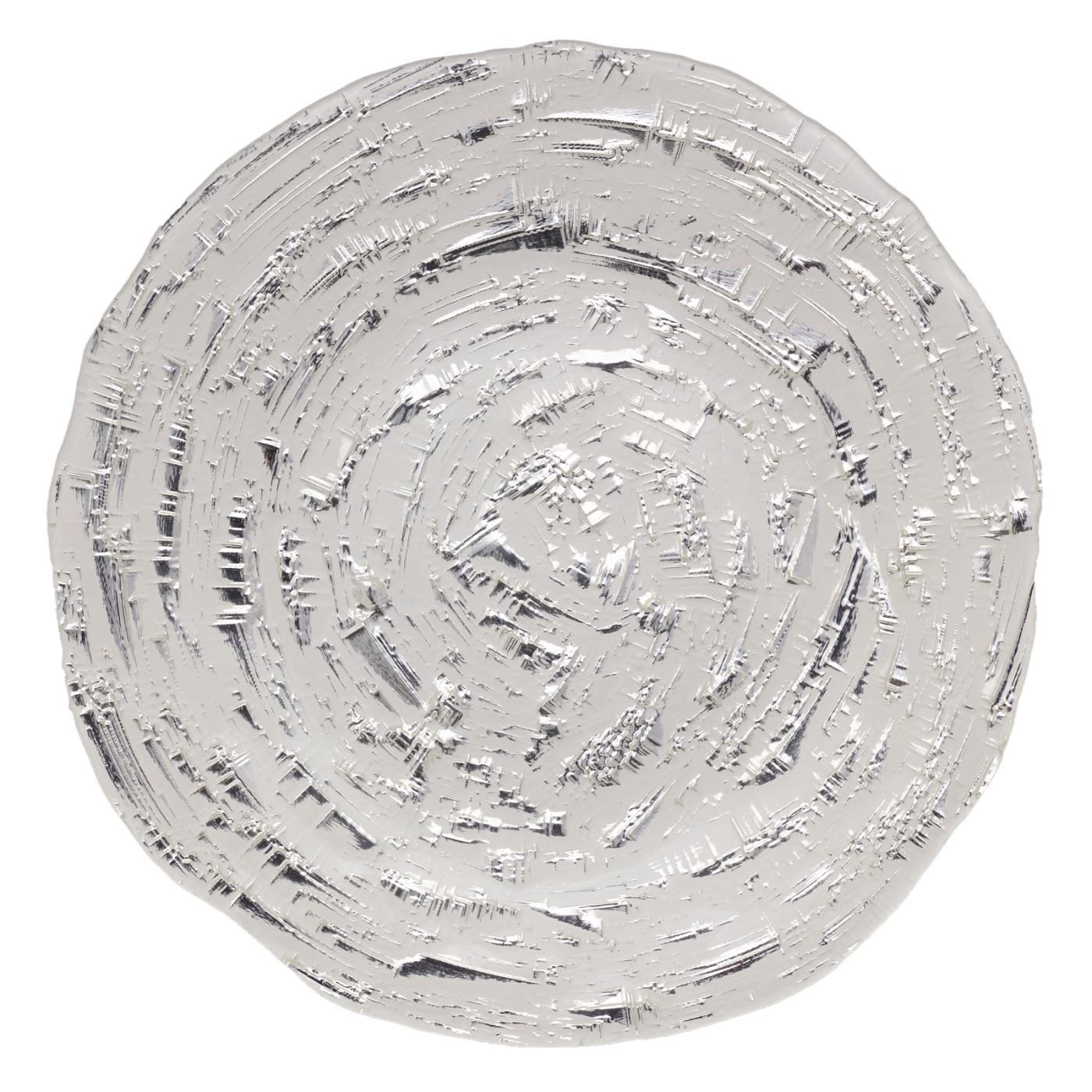 "Pyrite Glass Charger 11"" - White"