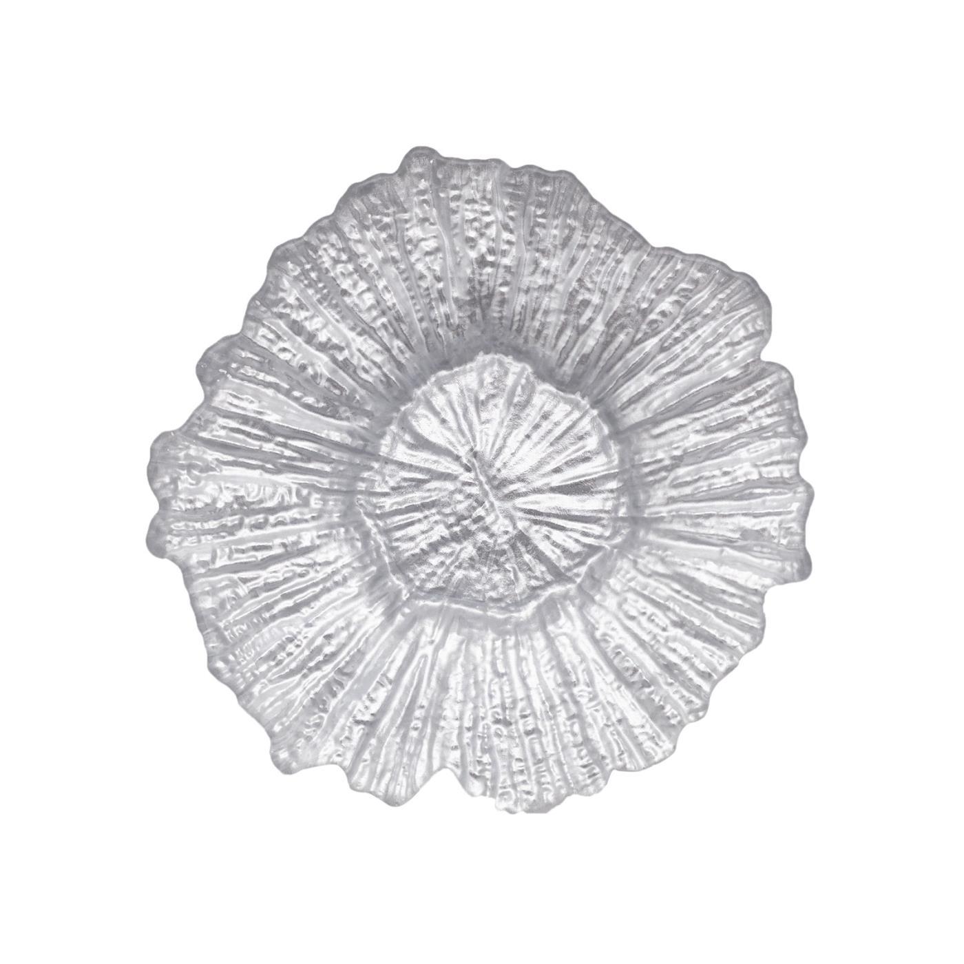 Silver Sea Sponge Glass B&B Plate 6