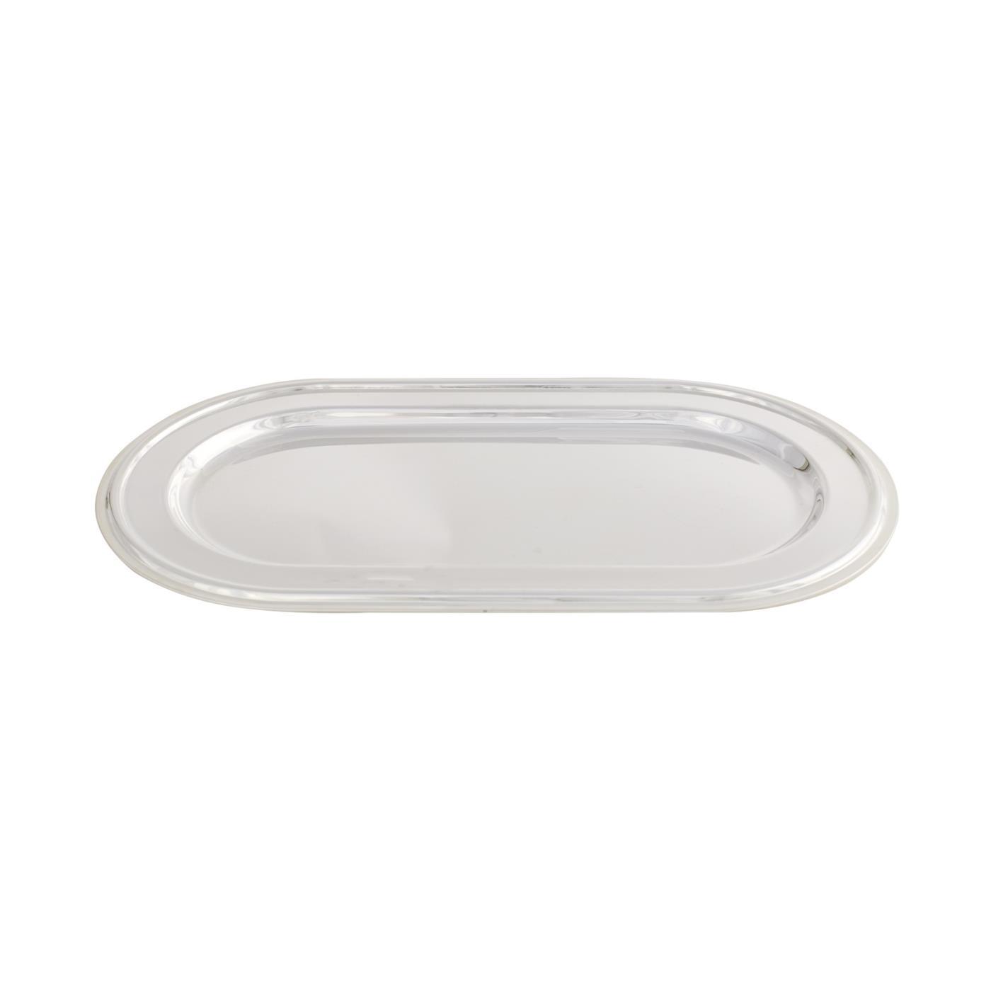 Sugar & Creamer Tray - Silver Contemporary