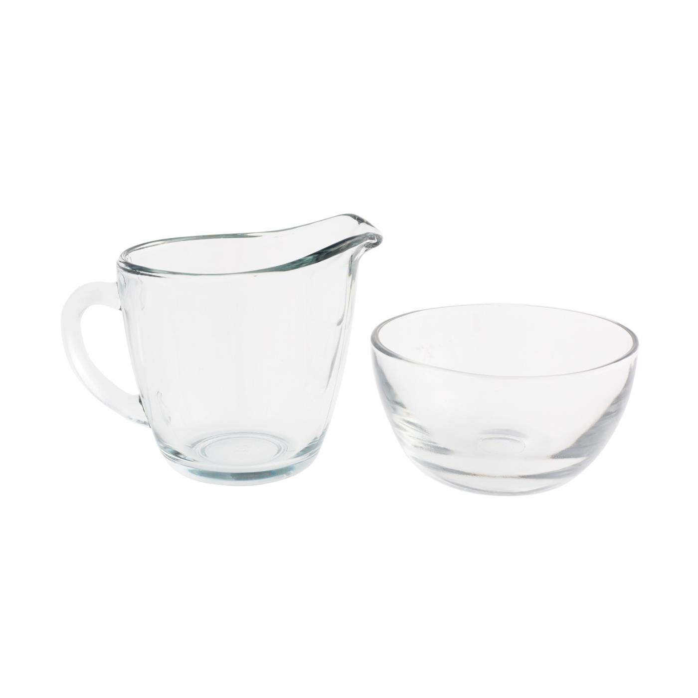 Sugar & Creamer Set - Glass