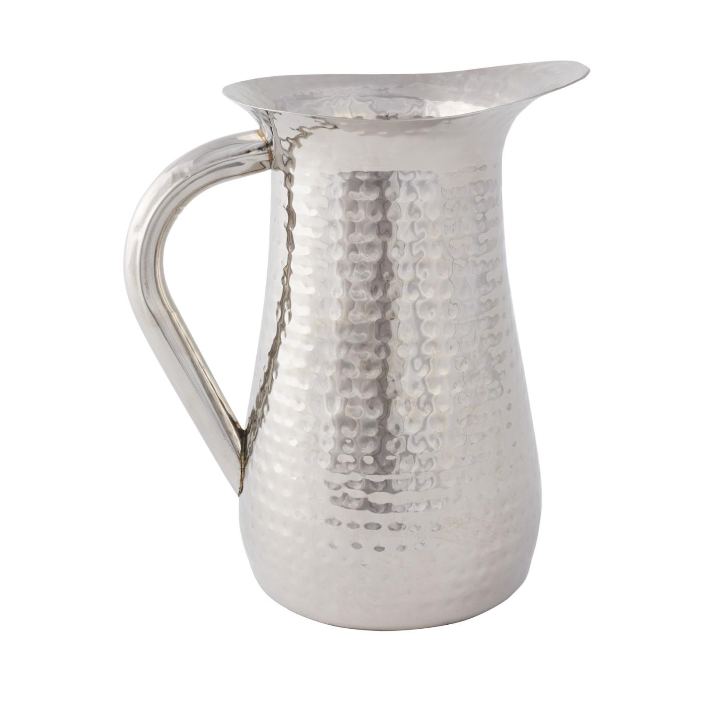 Silver Hammered Pitcher