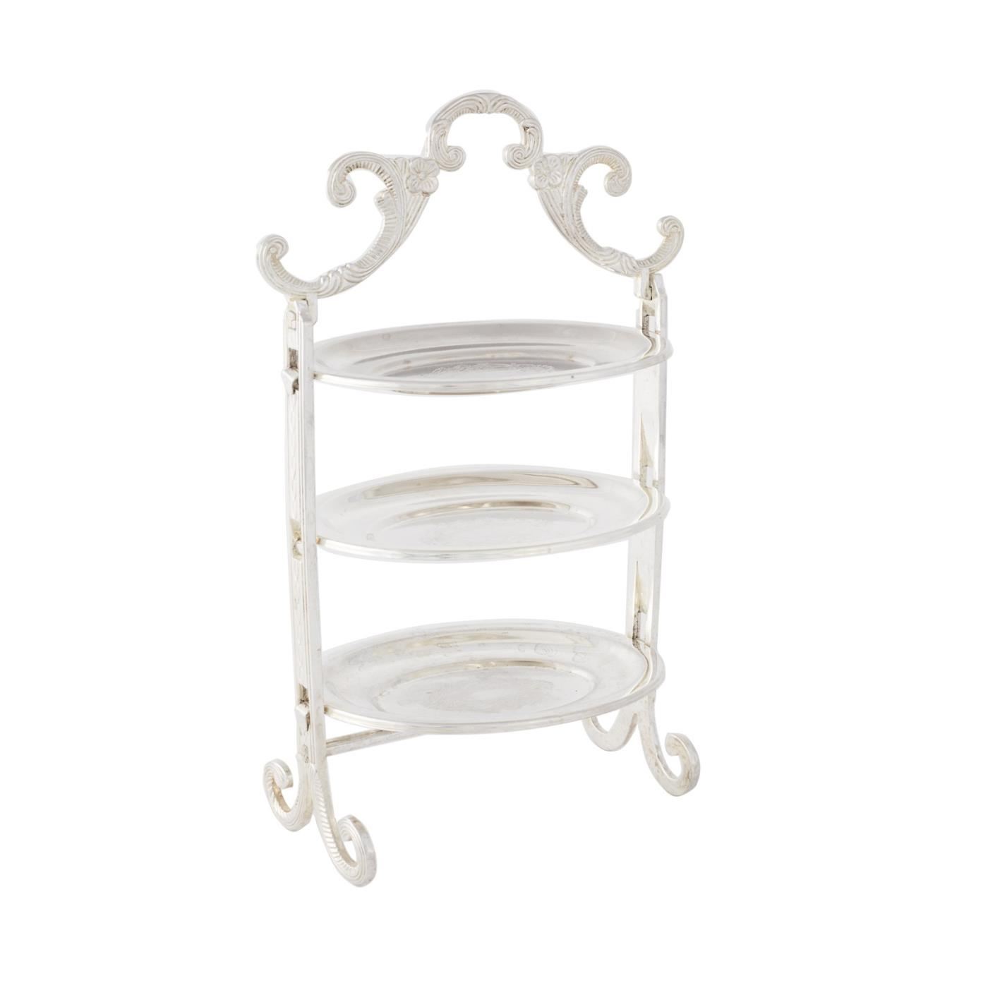 Silver Traditional Mini 3-Tier Stand