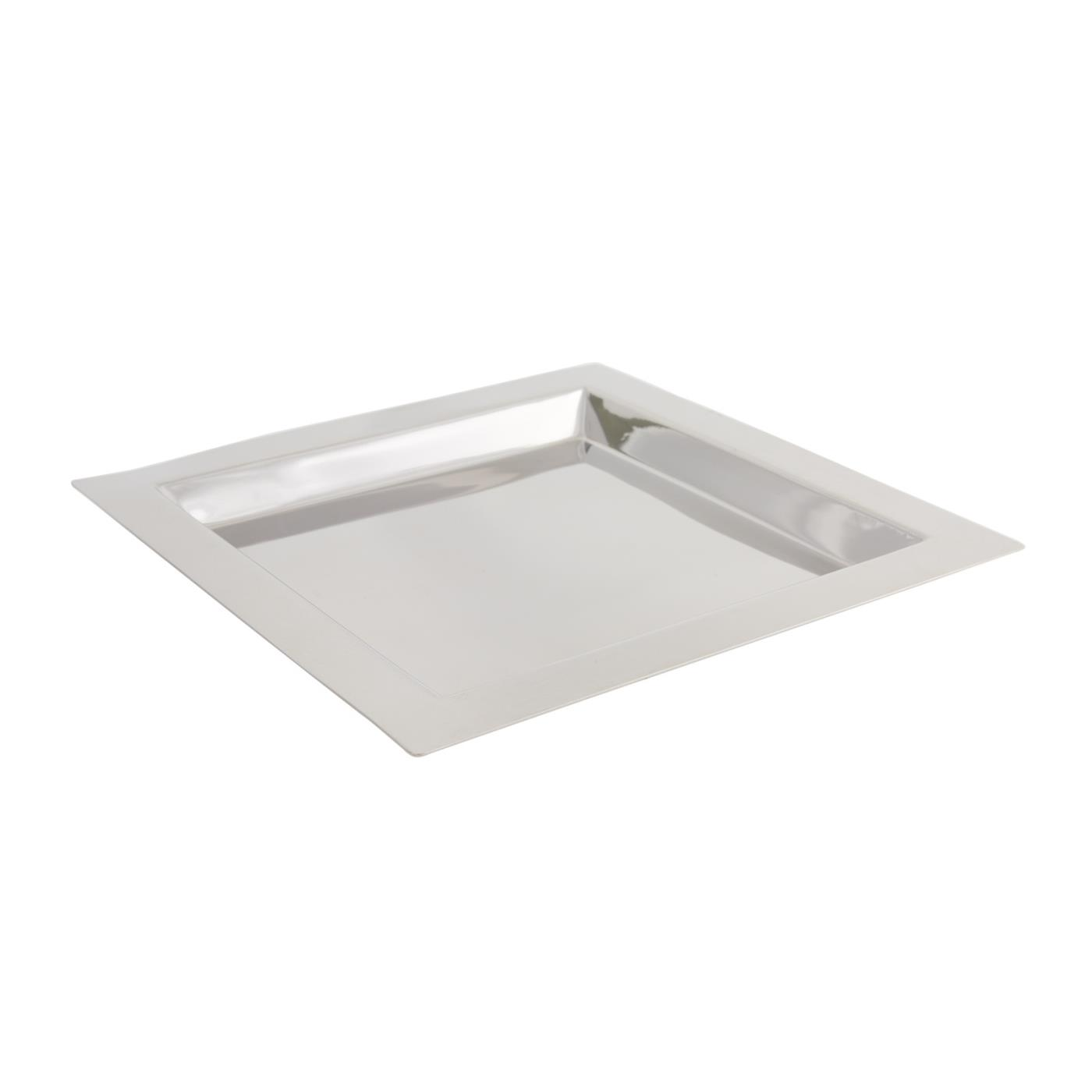 """Stainless Steel Square Tray - 11"""""""