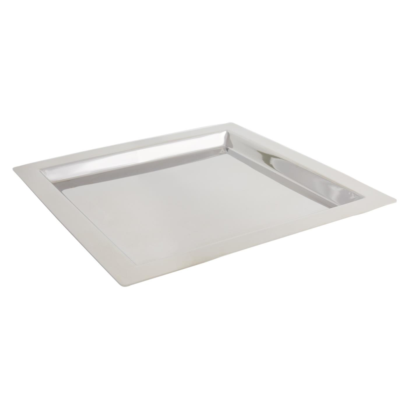 """Stainless Steel Square Tray - 13"""""""