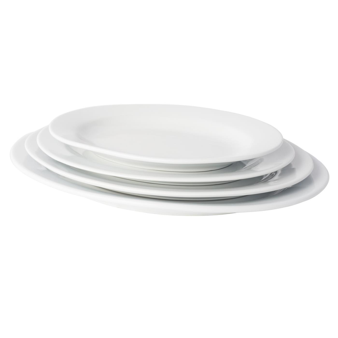 White Ceramic Oval Platter