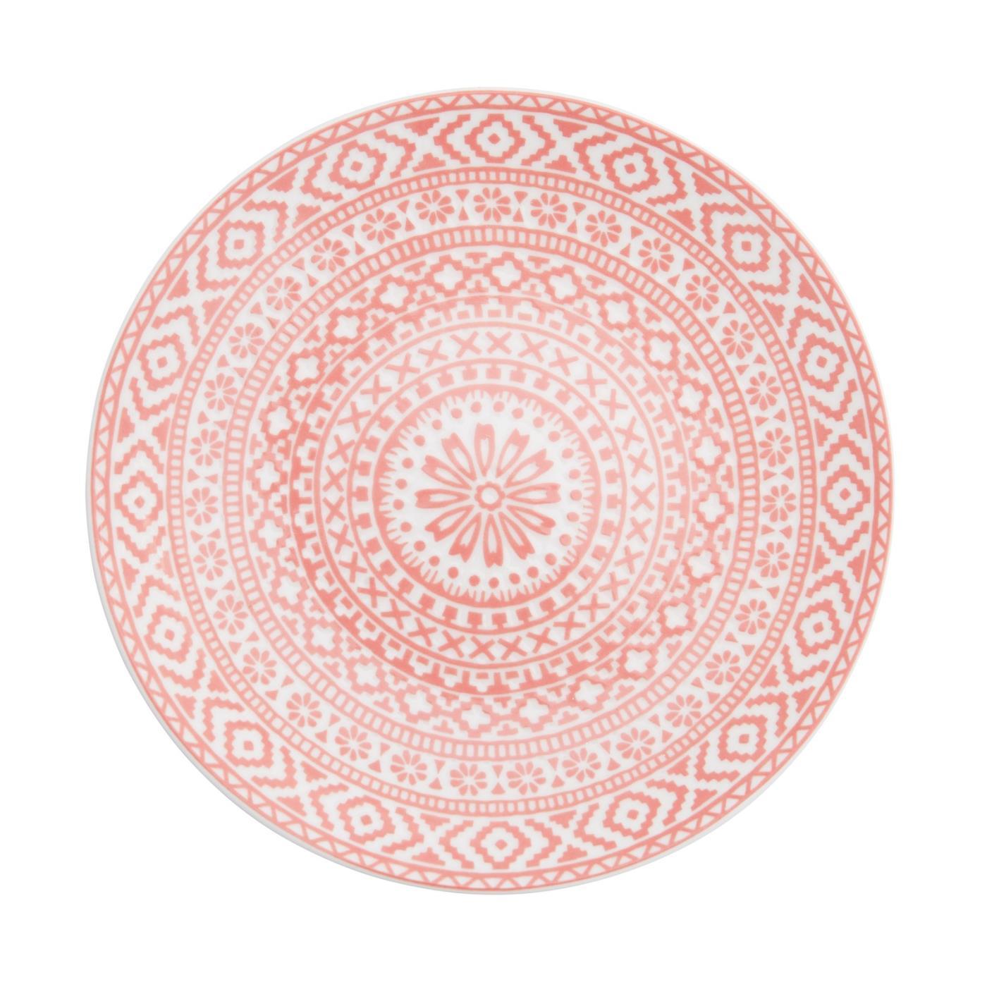 "Mayan Plate 8"" - Coral"