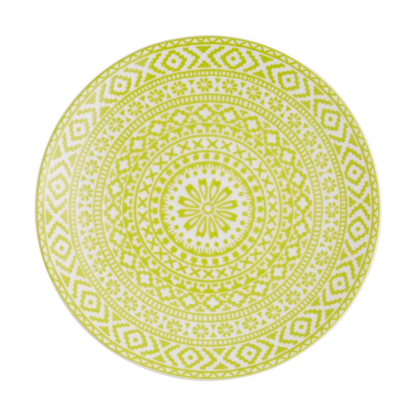 "Mayan Plate 8"" - Lime"