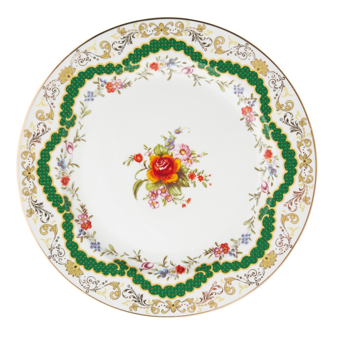 """Sevre Dinner Plate 10.5"""" - Green"""