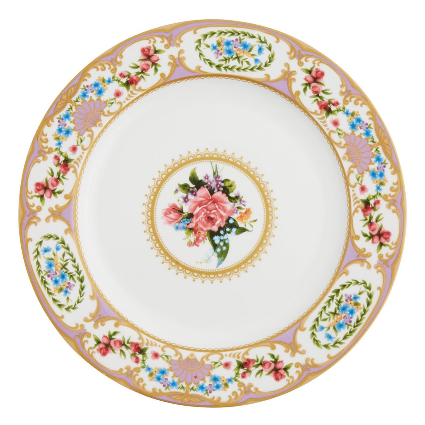 """Sevre Dinner Plate 10.5"""" - Lavender"""