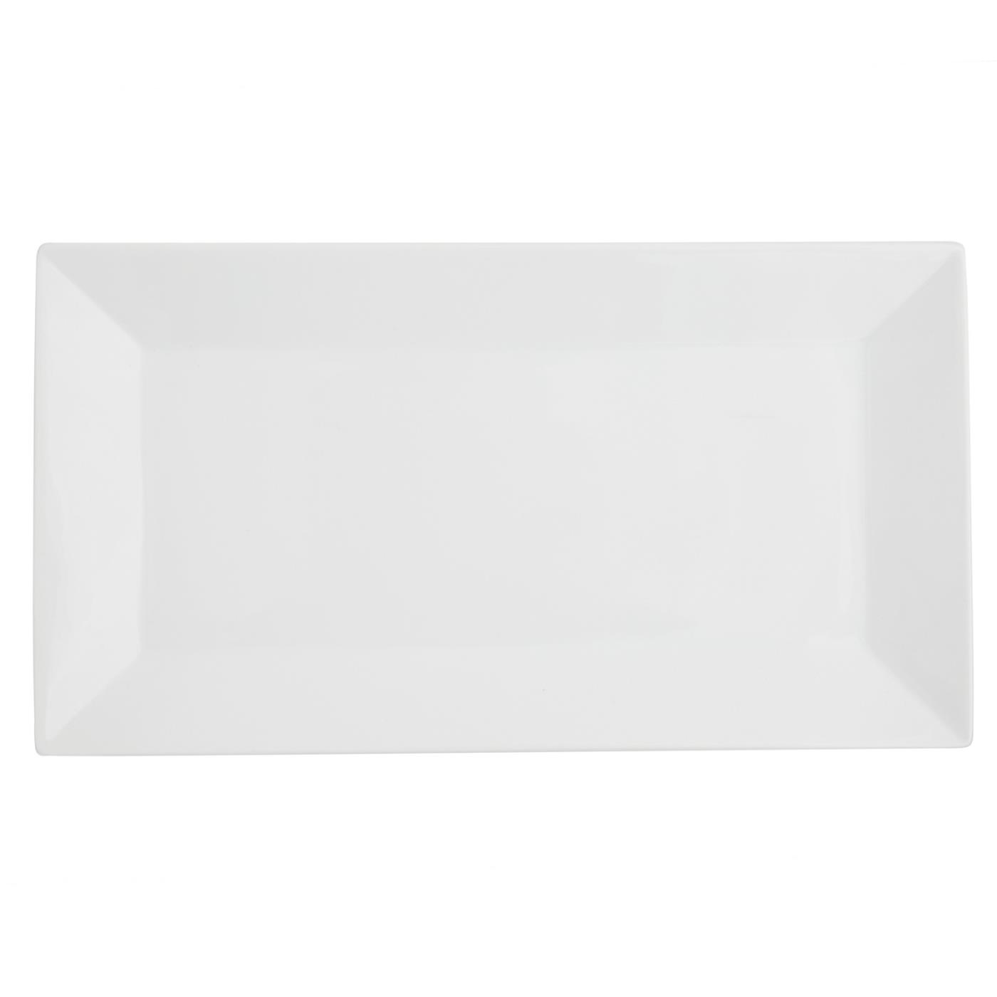White Rectangle Plate