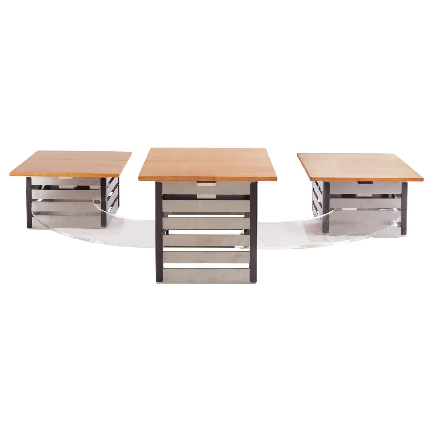 Industrial Steel Riser Set with LACS Curved Platforms