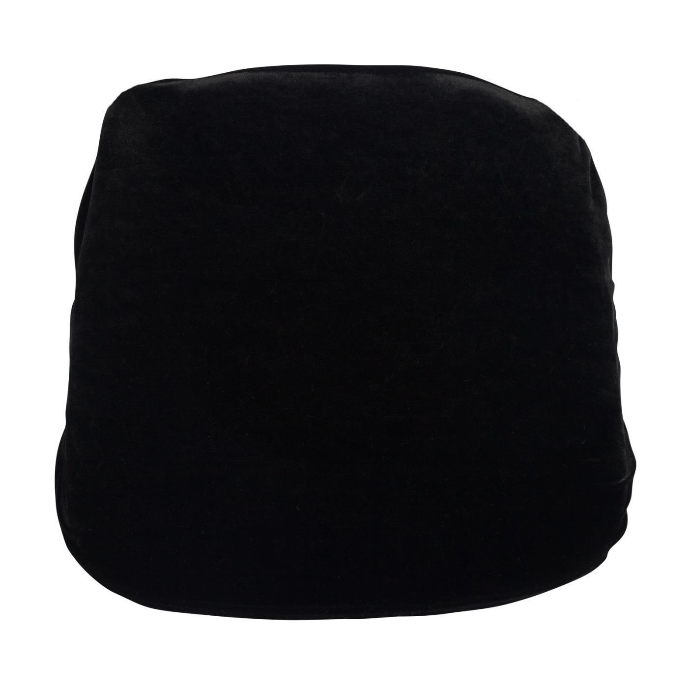 Velvet Seat Cushion - Black