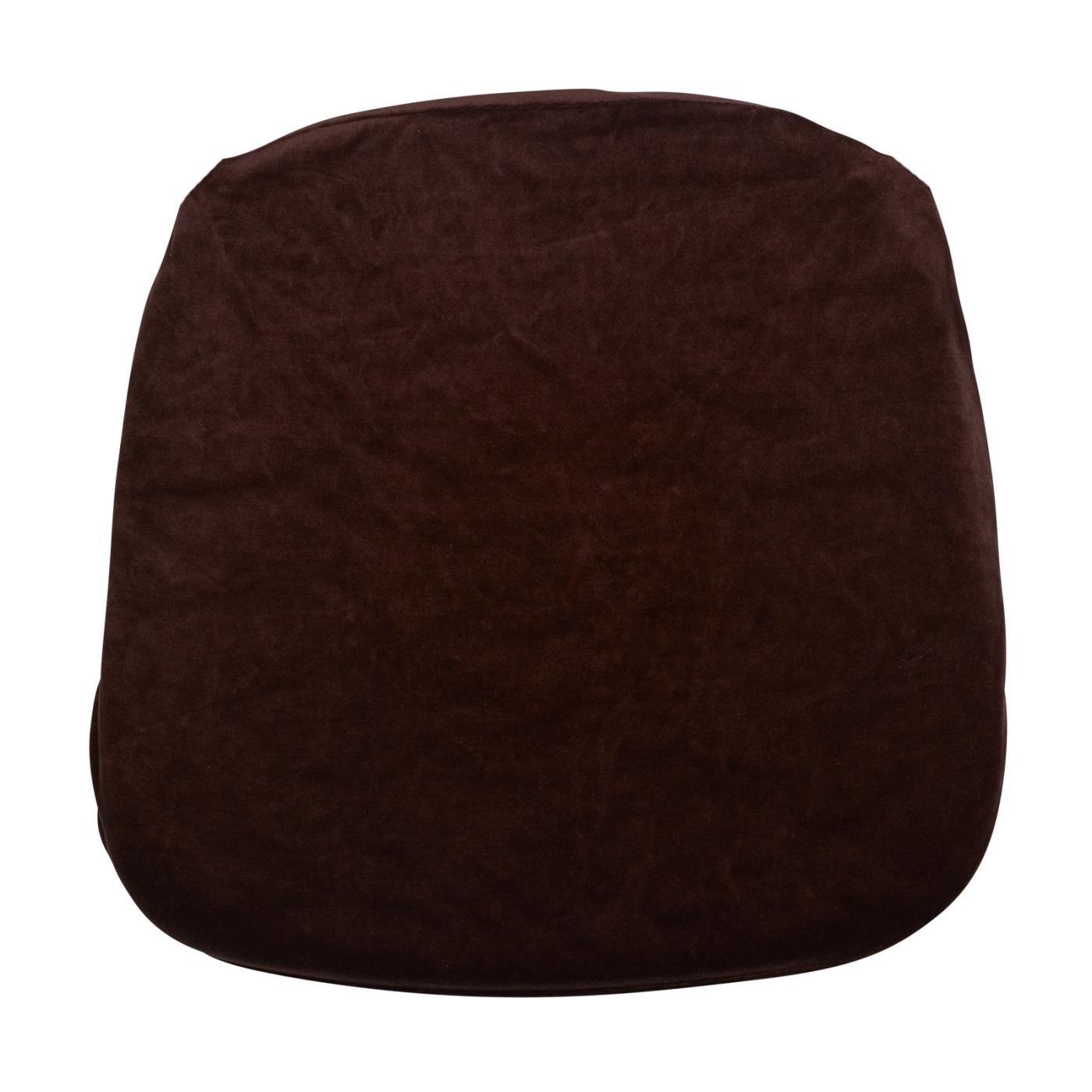 Velvet Seat Cushion - Brown