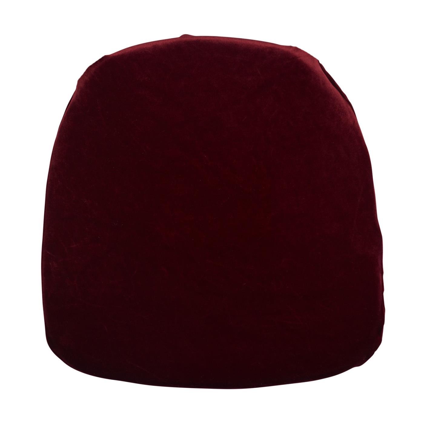Velvet Seat Cushion - Burgundy