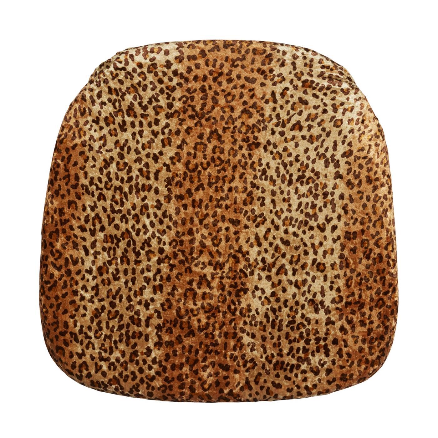 Velvet Seat Cushion - Cheetah