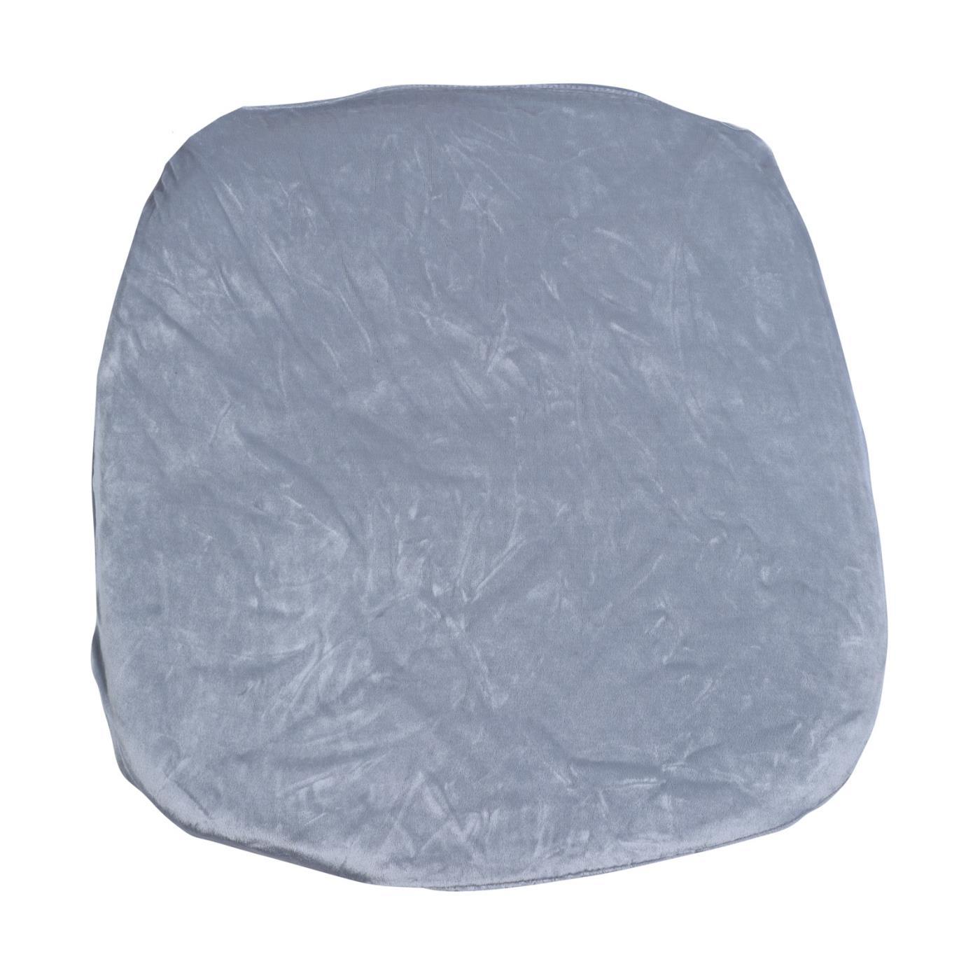Velvet Seat Cushion - Light Grey