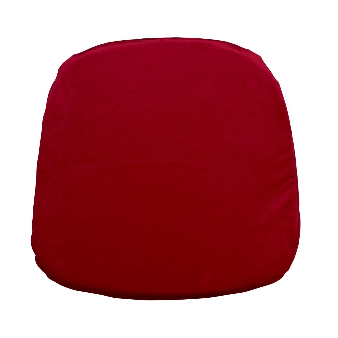 Velvet Seat Cushion - Red
