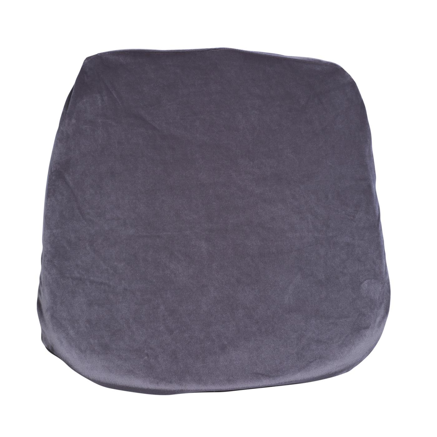 Velvet Seat Cushion - Steel Grey