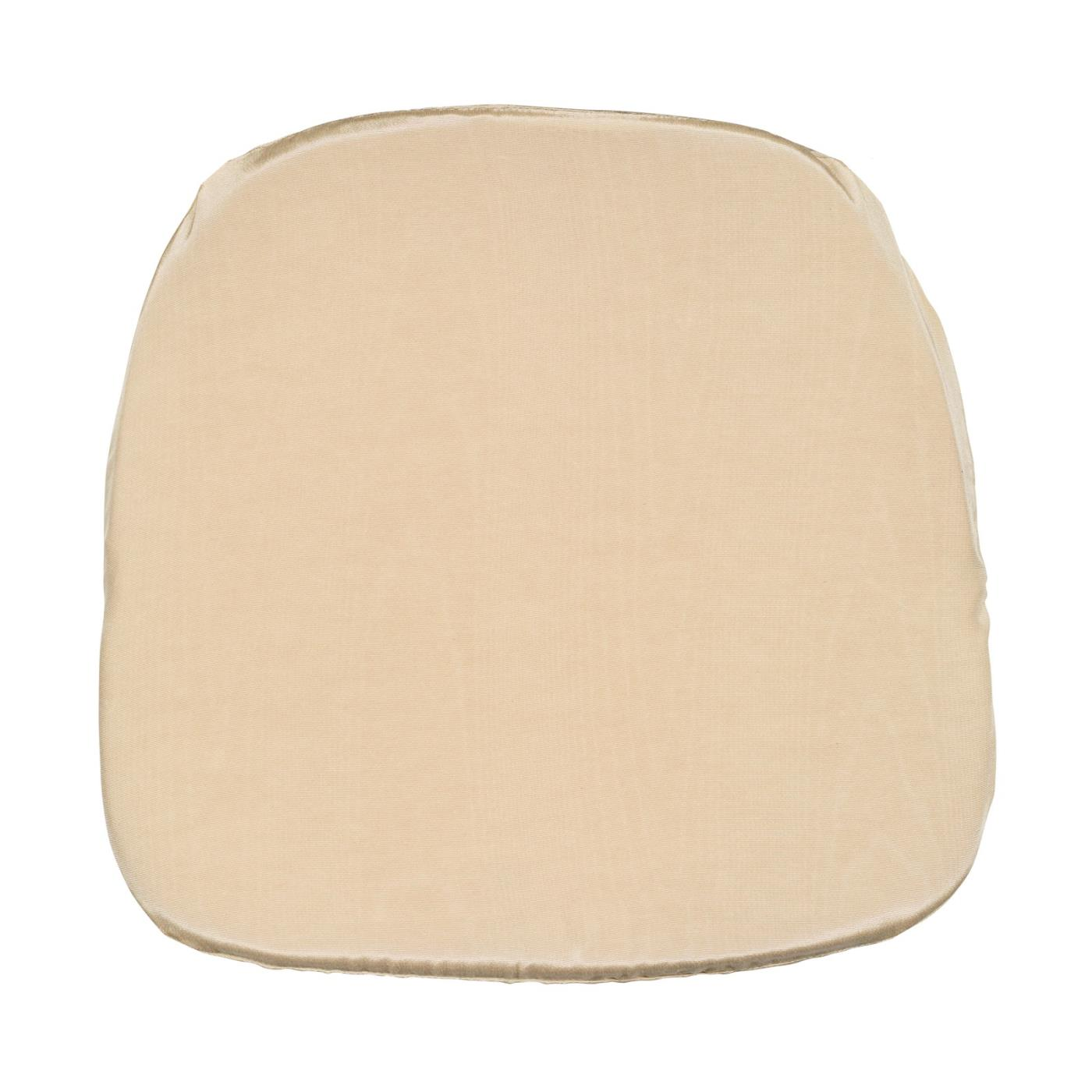 Bengaline Moire Seat Cushion - Ivory