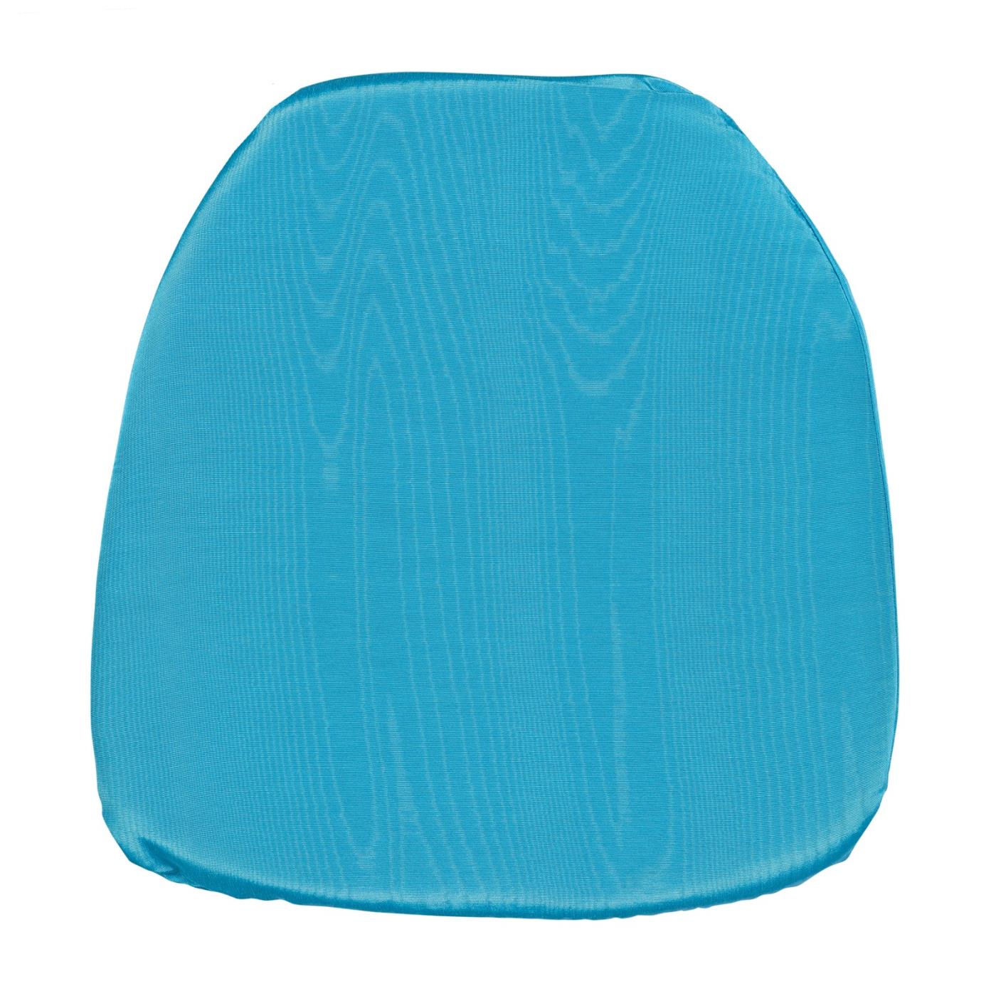 Bengaline Moire Seat Cushion - Turquiose