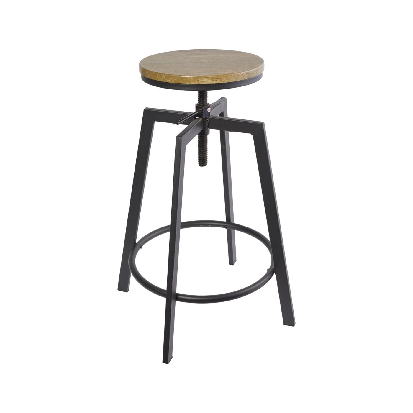 Industrial Walnut Stool 30