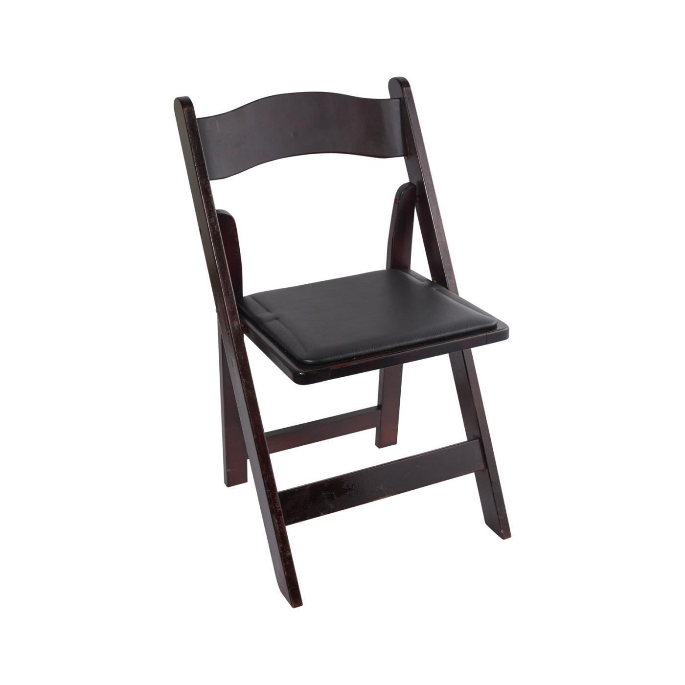 Wood Folding Chair - Mahogany Dark