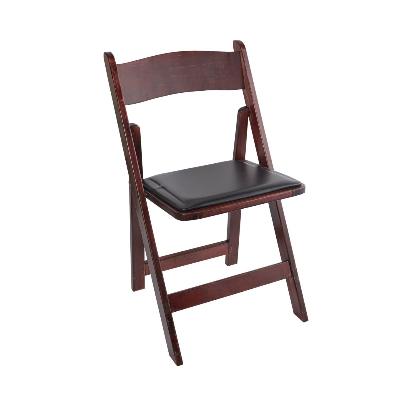 Wood Folding Chair - Mahogany Light