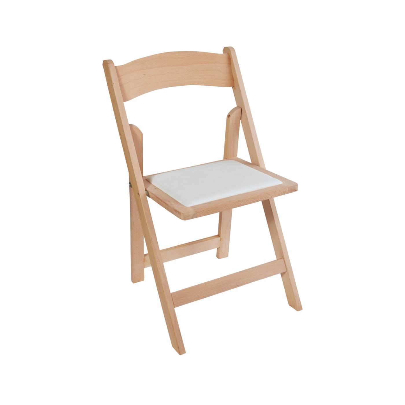 Wood Folding Chair - Raw