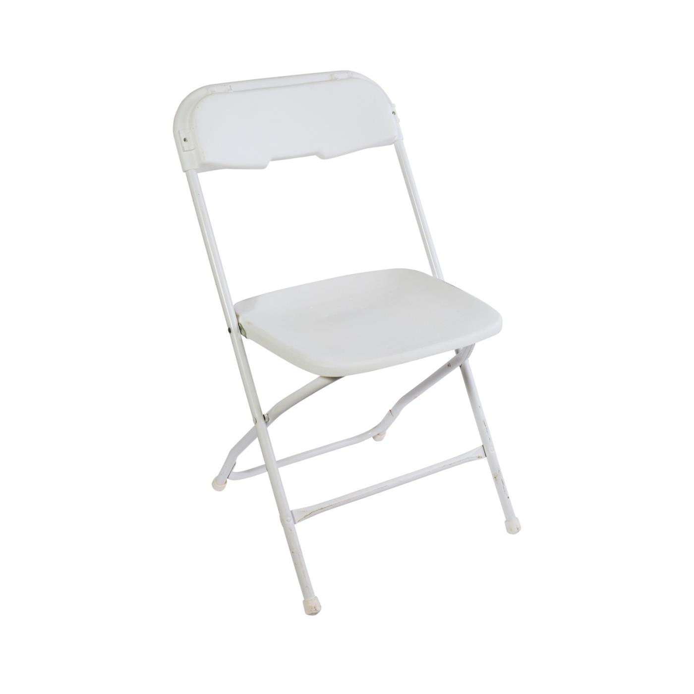 White Plastic Folding Chair
