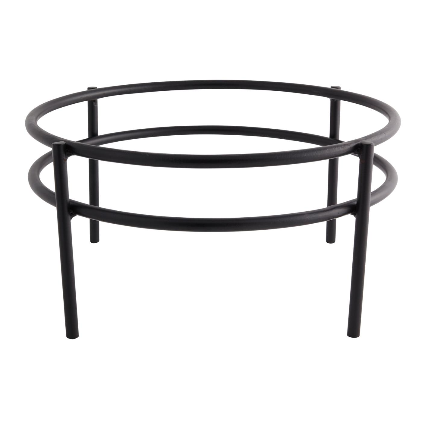 Double Ring Black Stand - 12