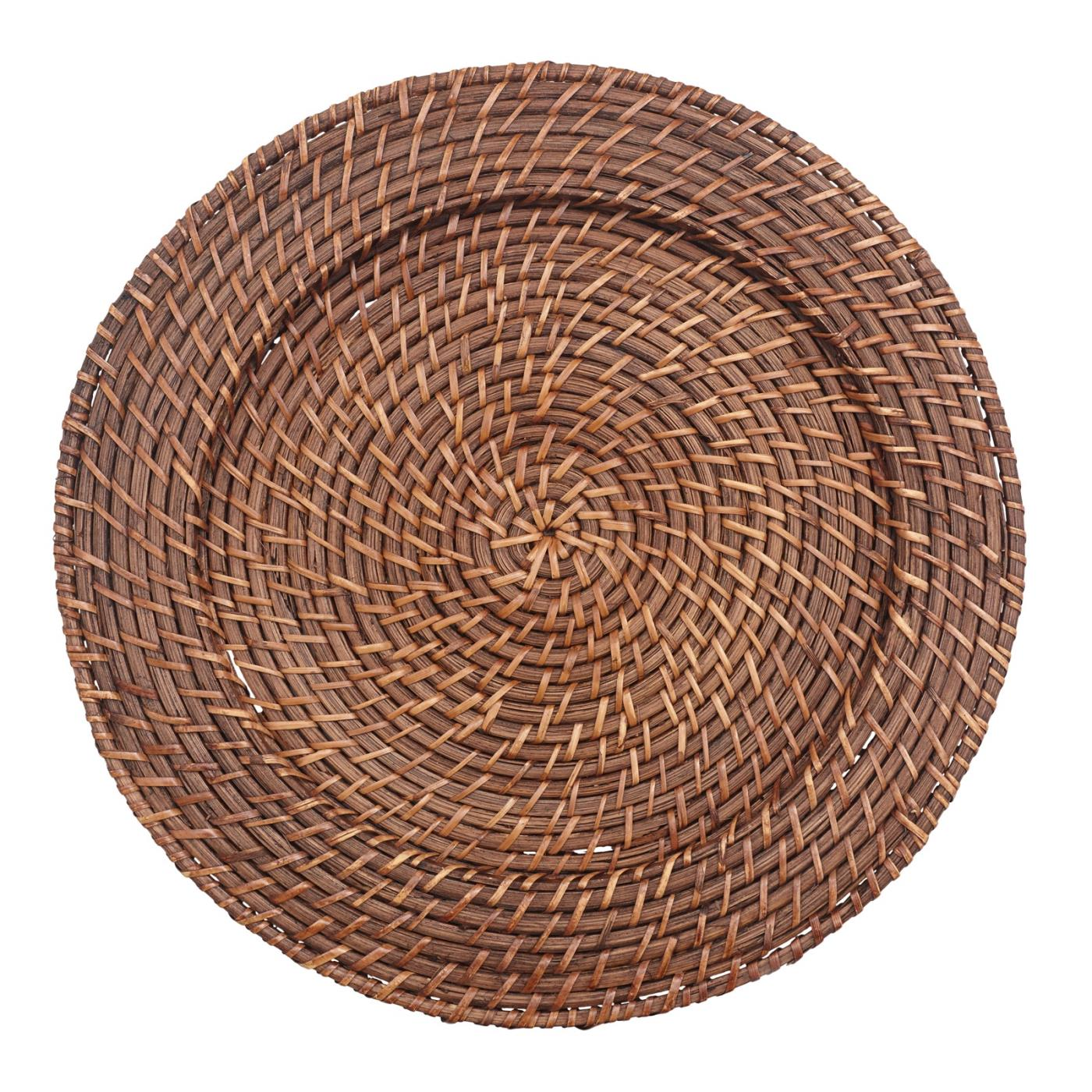 Brown Rattan Charger 13""