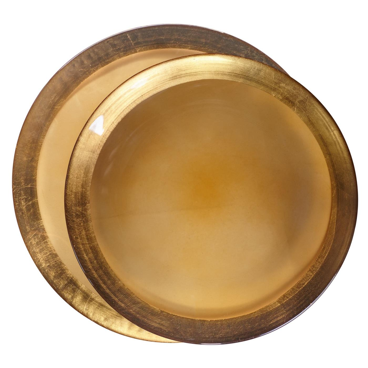 Gold Luster Glass Charger