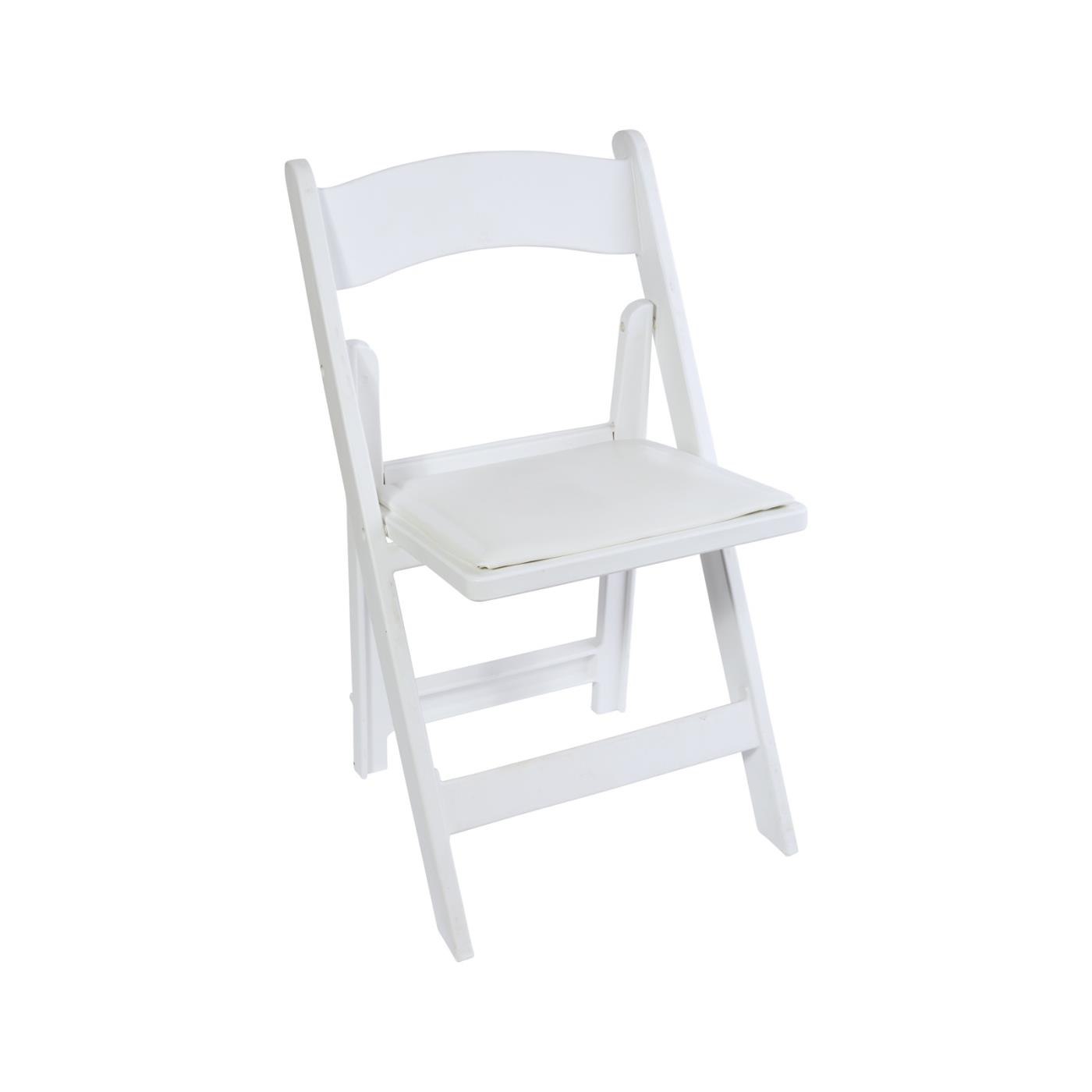 Resin Folding Chair - White