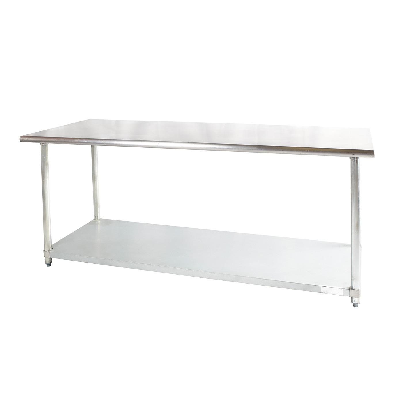 Rectangle Stainless Steel Table - Stainless Steel Work Table without Backsplash