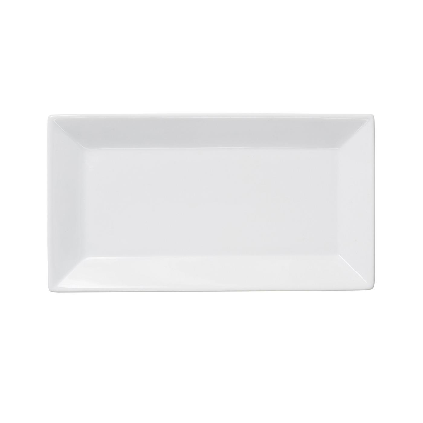 Sugar & Creamer Tray - White Ceramic