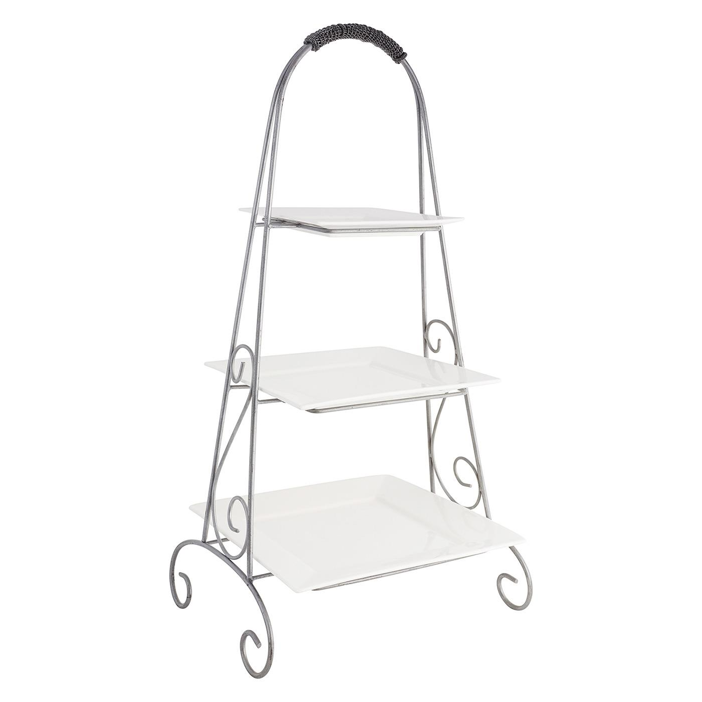 3-Tier Arch Stand with White Square